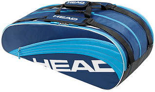 Красивая синяя теннисная сумка на 12 ракеток  283474 Core Monstercombi  BLLB HEAD