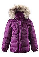 Зимняя куртка - пуховик для девочек Reima 531230. Размер 104 - 164.