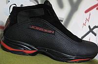 Jordan зимние мужские кроссовки натуральная кожа мех ботинки