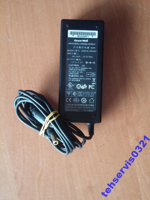 Блок питания ADS65S-1903420 19V-3.42A 65W OK M46