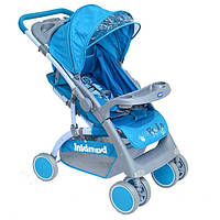 Детская прогулочная коляска Bambini Mars с чехлом blue pirate