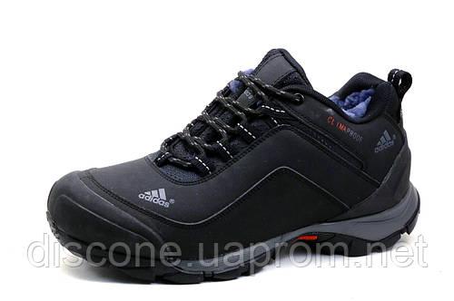 Зимние кроссовки Adidas Climaproof, черные., нубук