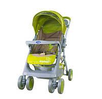 Детская прогулочная коляска Bambini Mars с чехлом green elephant