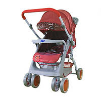 Детская прогулочная коляска Bambini Mars с чехлом red strawberry