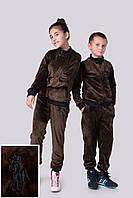 """Подростковый велюровый спортивный костюм унисекс """"Polo"""" с вышивкой и манжетами (3 цвета)"""