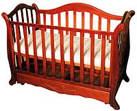 Детская кроватка из сосны DORJAN PAWELEK 3343 (120*60 см/ ящик/тик)