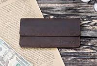Мужское кожаное портмоне клатч mod.Nord коричневый