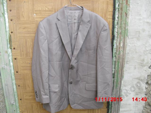 Пиджак Сanda темно-серый, в полоску
