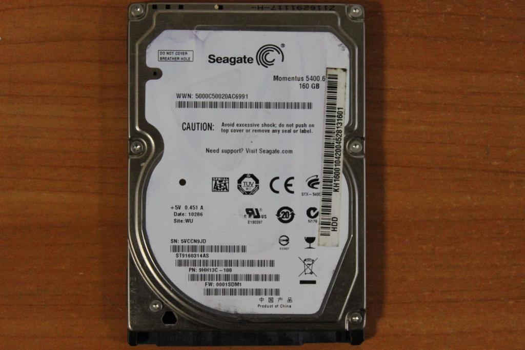 Жесткий диск 2,5 Sata Seagate 160 GB нерабочий #4