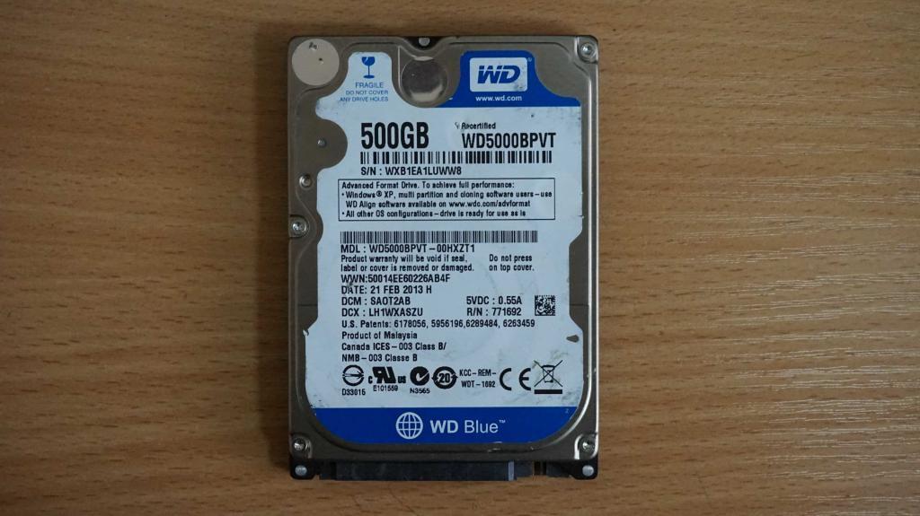 Жесткий диск 2,5 Sata WD 500 GB нерабочий #98