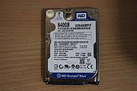 Жесткий диск 2,5 Sata WD 640 GB нерабочий #158
