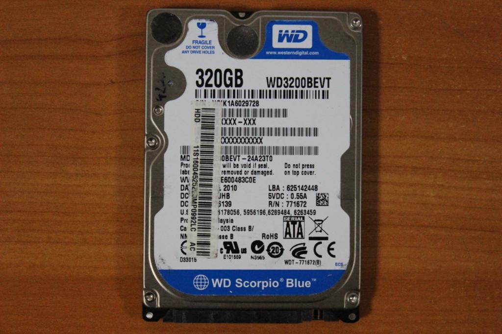 Жесткий диск 2,5 Sata WD 320 GB нерабочий #39