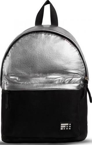 Шикарный городской рюкзак 15 л. Fusion Dividend, черный + серебро