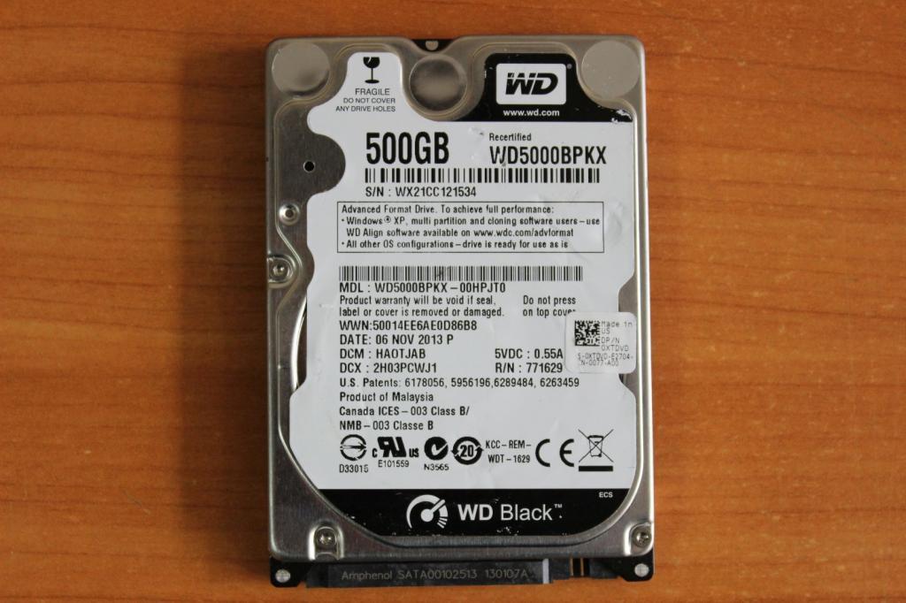Жесткий диск 2,5 Sata WD 500 GB нерабочий #53