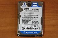 Жесткий диск 2,5 Sata WD 500 GB нерабочий #86