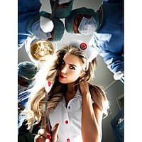 Костюм медсестры Nurses coat With red details and hat