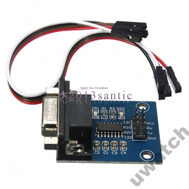 Адаптер Конвертер 5V MAX3232 RS232 DB9 - TTL 4 pin