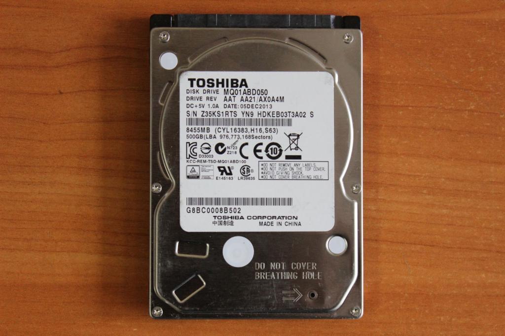 Жесткий диск 2,5 Sata Toshiba 500 GB нерабочий #57