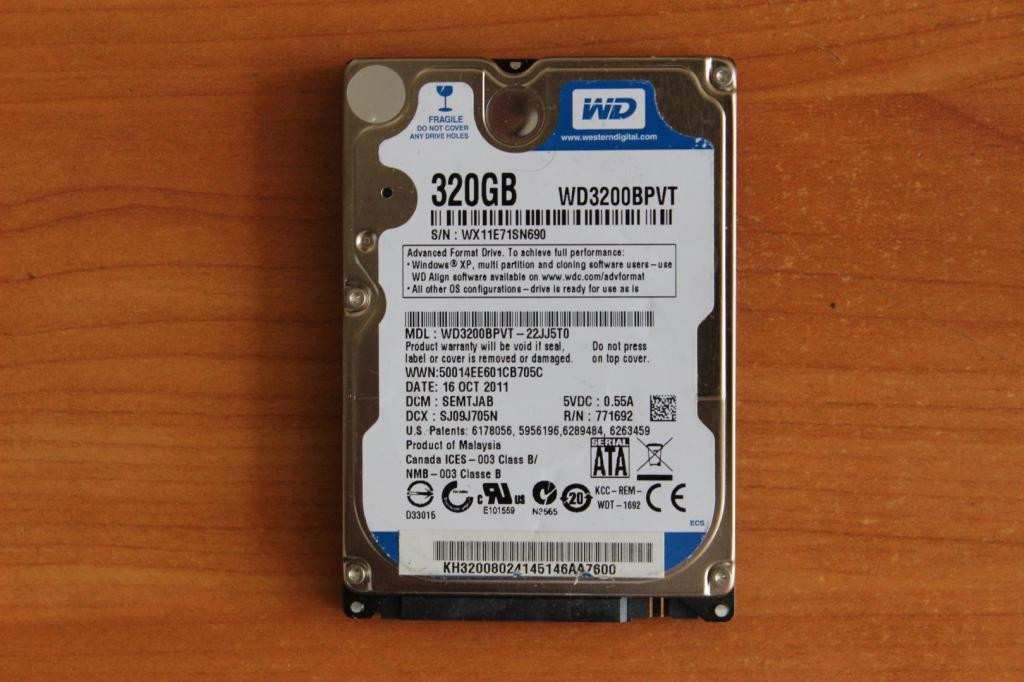Жесткий диск 2,5 Sata WD 320 GB нерабочий #23