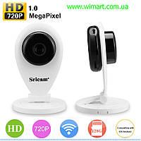 Камера видеонаблюдения Sricam 720P, H.264, Wifi IP Camera, Р2Р, беспроводная, ONVIF,IR-CU,двухстороннее аудио.