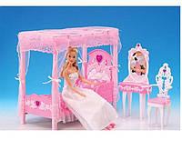 """Мебель для спальни """"Gloria"""" для кукол типа Барби 2614"""