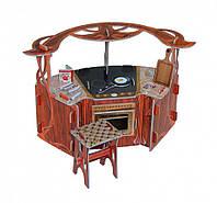 """Коллекционный набор мебели """"Кухня"""". Объемный пазл. Материал: картон."""