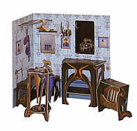 """Коллекционный набор мебели """"Прихожая"""". Объемный пазл. Материал: картон."""