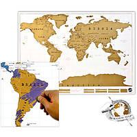 Скретч карта мира Scratch World Map (англ.)