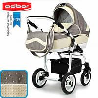 Универсальная коляска 3 в 1 Adbor Marsel PerFor Sport P05 (cappuccino point-beige leather)