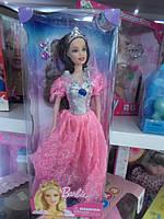 Кукла в красивом платье розовом с короной