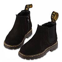 Кожаные стильные ботинки на мальчика, 3 цвета
