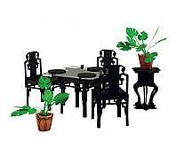 """Коллекционный набор мебели """"Чайная комната"""". Объемный пазл. Материал: картон."""
