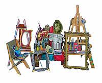 """Коллекционный набор мебели """"Мастерская художника"""". Объемный пазл. Материал: картон."""