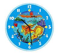 """Сборная пазл-игрушка Часы """"Золотая рыбка"""" (с часовым мех.) Материал: картон + изолон"""