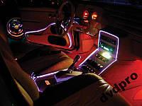 Гибкий неоновый шнур 3М холодный неон на Авто A1