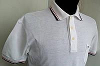 Стильная футболка  поло белая