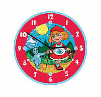 """Сборная пазл-игрушка Часы """"Красная шапочка"""" (с часовым мех.) Материал: картон + изолон"""