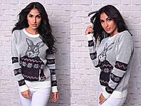 Модный свитер с БОЛЬШИМ КРОЛИКОМ