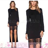 Платье с хвостом и кружевом АН 92153