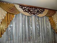 Ламбрекен с декором ажур