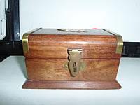 Шкатулка деревянная с декором СЛОН