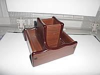Подставка для ручек офисная деревянная. крутится