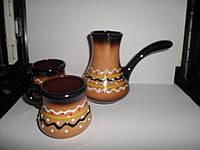 Набор турка для кофе+2 чашки