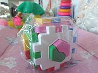 Кубик сортер Умный малыш Логика-1 ЧАСТИ ЦЕЛОГО