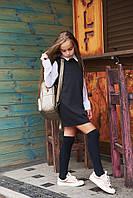 Школьное платье для девочки из французского трикотажа