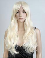 Парик длинный волос блонд
