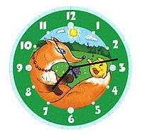 """Сборная пазл-игрушка Часы """"Колобок"""" (с часовым мех.) Материал: картон + изолон"""