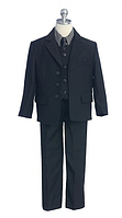 Выпускной костюм с клетчатой рубашкой и атласным галстуком  2-18 лет (4 цвета)