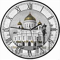 """Сборная пазл-игрушка Часы """"Храм Христа Спасителя"""" (с часовым мех.) Материал: картон + изолон"""
