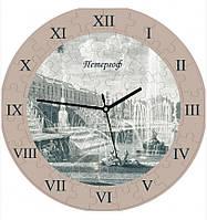 """Сборная пазл-игрушка Часы """"Петергоф"""" (с часовым мех.) Материал: картон + изолон"""